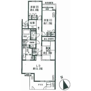 3LDK Mansion in Saginuma - Kawasaki-shi Miyamae-ku Floorplan