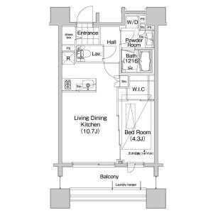 1LDK 맨션 in Sasazuka - Shibuya-ku Floorplan