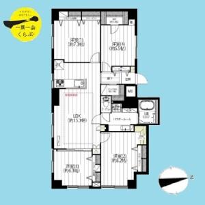 4LDK {building type} in Arai - Nakano-ku Floorplan