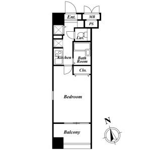 港区南麻布-1R公寓大厦 楼层布局