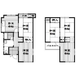 5DK {building type} in Nishinono - Matsubara-shi Floorplan