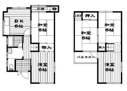 5DK House to Buy in Matsubara-shi Floorplan