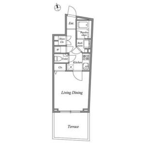 1K Mansion in Kamiosaki - Shinagawa-ku Floorplan