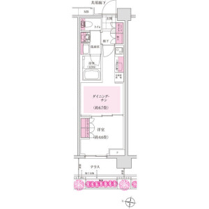 1DK Mansion in Toyo - Koto-ku Floorplan