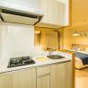 1K Serviced Apartment to Rent in Osaka-shi Naniwa-ku Kitchen