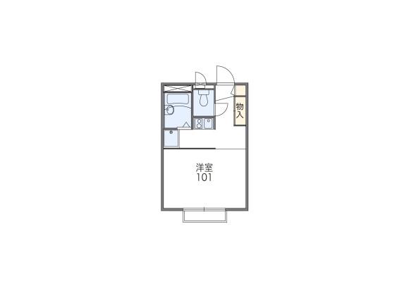 1K Apartment to Rent in Yamato-shi Floorplan