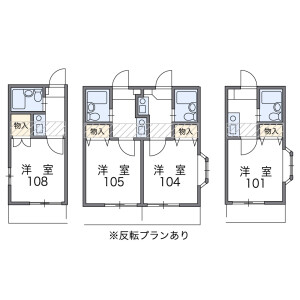 1K Apartment in Inadahommachi - Higashiosaka-shi Floorplan