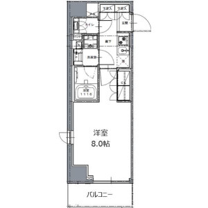 1K Mansion in Mita - Minato-ku Floorplan
