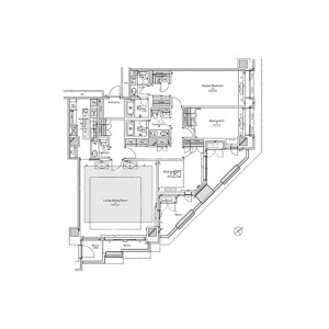 3LDK {building type} in Motoazabu - Minato-ku Floorplan