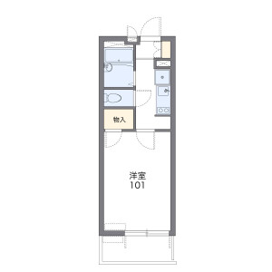 1K Mansion in Kunimi - Sendai-shi Aoba-ku Floorplan