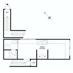 1DK Apartment in Kaminoge - Setagaya-ku Floorplan