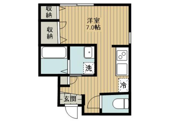 1R Apartment to Rent in Saitama-shi Omiya-ku Floorplan