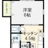 在目黒区内租赁1K 公寓 的 楼层布局