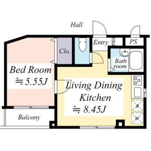 1LDK Mansion in Hatagaya - Shibuya-ku Floorplan