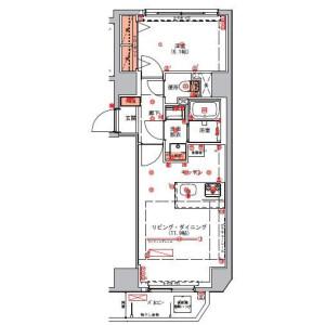 1LDK Mansion in Kotobashi - Sumida-ku Floorplan