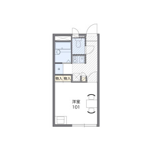福岡市城南區片江-1K公寓 房間格局