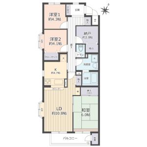 3SLDK {building type} in Futatsuya - Kitamoto-shi Floorplan