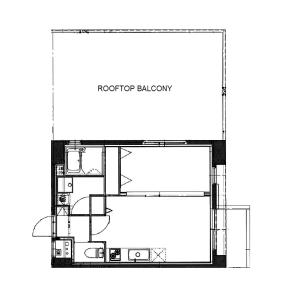 1LDK Mansion in Sasazuka - Shibuya-ku Floorplan