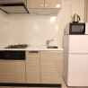 1K Serviced Apartment to Rent in Ota-ku Kitchen