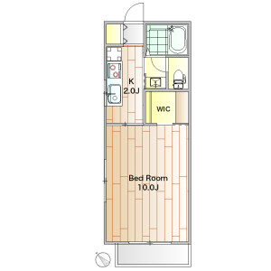 1K Apartment in Gohongi - Meguro-ku Floorplan