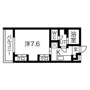 安城市今池町-1K公寓大廈 房間格局