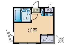 1R {building type} in Takamatsucho - Tachikawa-shi