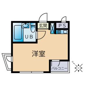1R Apartment in Takamatsucho - Tachikawa-shi Floorplan