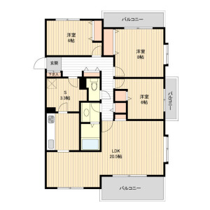 3LDK Mansion in Kugayama - Suginami-ku Floorplan