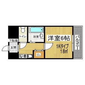 1K Mansion in Nagata naka - Higashiosaka-shi Floorplan