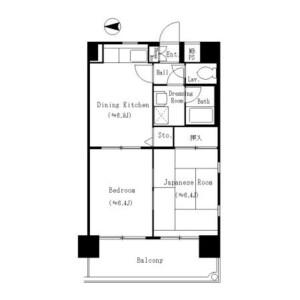 2SK Mansion in Higashikasai - Edogawa-ku Floorplan