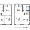 2DK Apartment to Rent in Saitama-shi Omiya-ku Floorplan