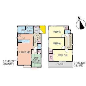 4LDK House in Arai - Sendai-shi Wakabayashi-ku Floorplan
