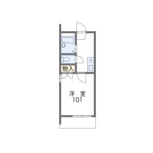 1K Apartment in Jigyo - Fukuoka-shi Chuo-ku Floorplan