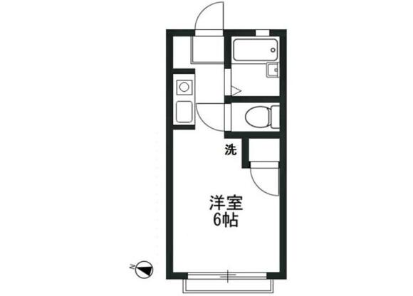1R Apartment to Rent in Sakado-shi Floorplan