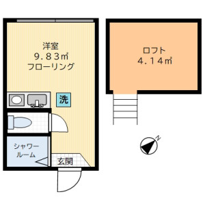 1R Apartment in Ogikubo - Suginami-ku Floorplan