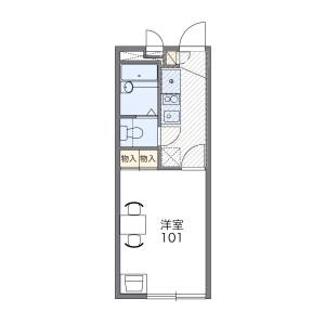 1K Mansion in Shimizu - Fukuoka-shi Minami-ku Floorplan