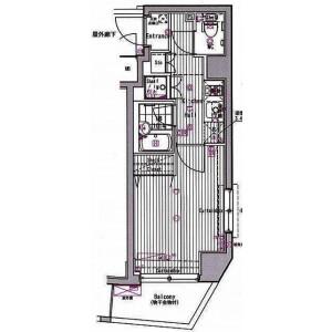 练马区高松-1K公寓大厦 楼层布局