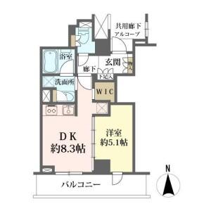 1DK {building type} in Andojimachi - Osaka-shi Chuo-ku Floorplan