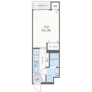 川口市西川口-1K公寓大廈 房間格局