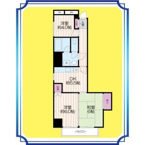 2SDK Apartment in Higashiogu - Arakawa-ku Floorplan