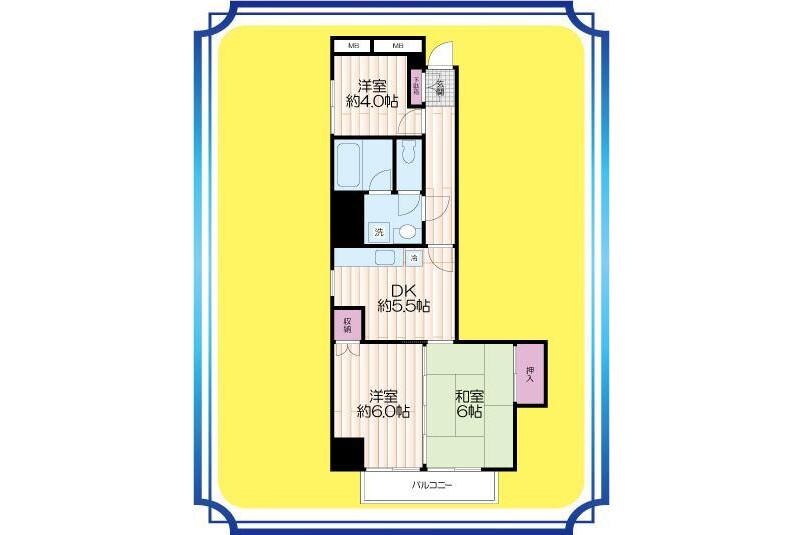 2SDK Apartment to Buy in Arakawa-ku Floorplan