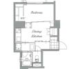 1DK Apartment to Buy in Meguro-ku Floorplan