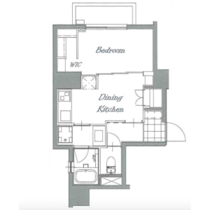 1DK {building type} in Shimomeguro - Meguro-ku Floorplan
