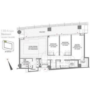 3LDK Mansion in Toranomon - Minato-ku Floorplan