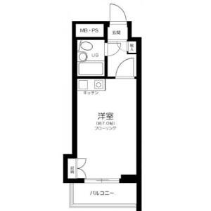1R Mansion in Toyotamakami - Nerima-ku Floorplan