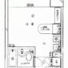 在港区内租赁1R 公寓大厦 的 楼层布局