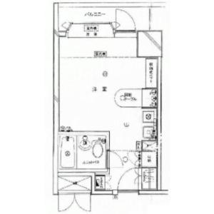 港區南麻布-1R公寓大廈 房間格局