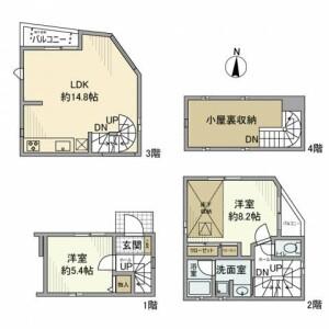 2LDK House in Ebisu - Shibuya-ku Floorplan