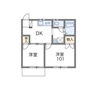 2DK Apartment in Daigiri - Fujisawa-shi Floorplan