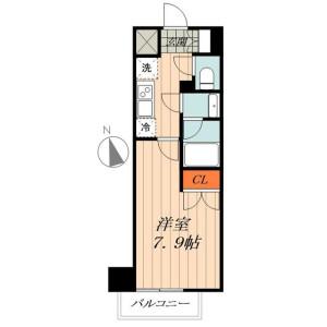 1K Mansion in Nishigokencho - Shinjuku-ku Floorplan